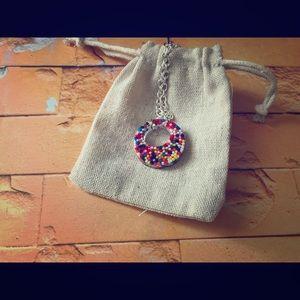 Sprinkles Hoop Necklace